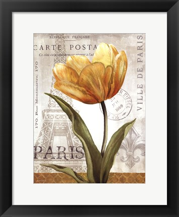 Framed Golden Flower Print