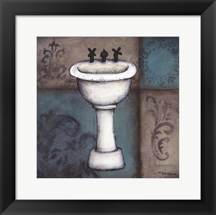 Framed Blue Bath II Print