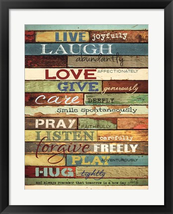 Framed Live Joyfully Print