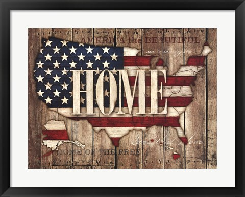 Framed USA Home Print