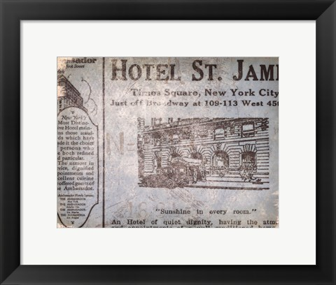 Framed Hotel St James Print