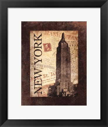Framed New York Postale Print