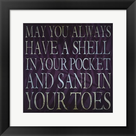 Framed Sandy Toes Print