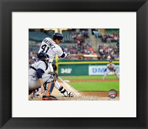 Framed Victor Martinez 2014 on the field Print