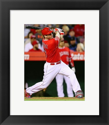 Framed David Freese baseball 2014 Print