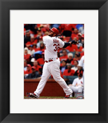 Framed Matt Adams 2014 Batting Action Print