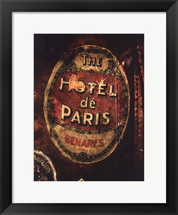 Framed Hotel De Paris Print