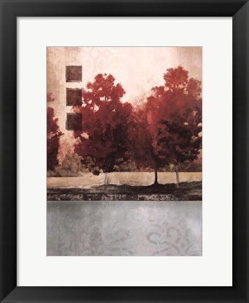 Framed Spicy Cool Trees II Print