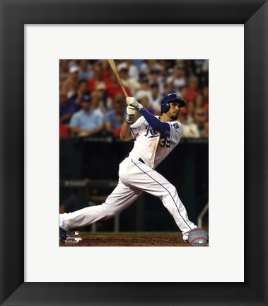 Framed Eric Hosmer Baseball Bat Swing Print