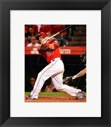 Framed Mike Trout 2014 Baseball Action Print