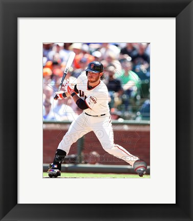 Framed Brandon Crawford on the field 2014 Print
