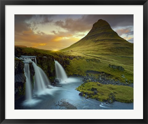 Framed 3 Waterfalls Print