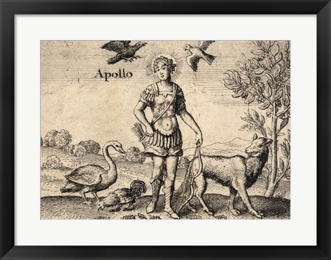 Framed Greek God Apollo Print