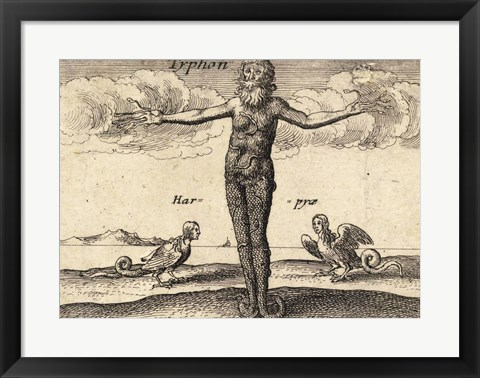 Framed Greek Gods Tryphon Print