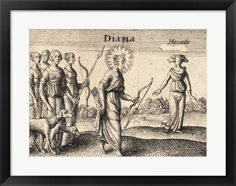 Framed Greek Gods Diana Print