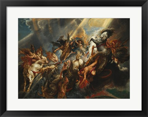 Framed Fall of Phaeton Print