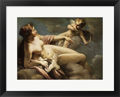 Framed Cupid Print