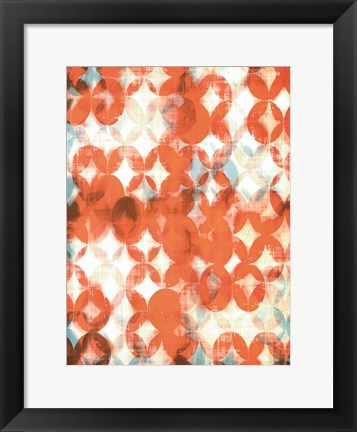 Framed Overlapping Teal & Orange II Print