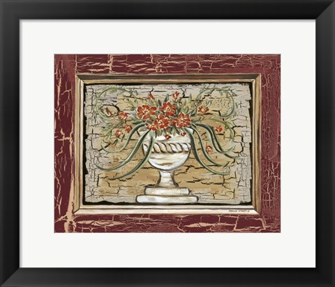 Framed Antique White Vase II Print
