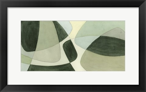 Framed Verdigris Intersection II Print