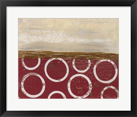 Framed Going in Circles II Print