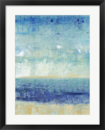 Framed Beach Horizon I Print