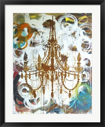 Framed Rust Chandelier Print