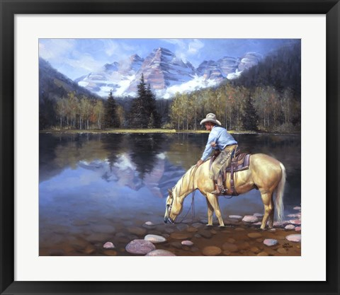 Framed Colorado Cowboy Print