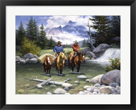 Framed Clear Water Crossing Print