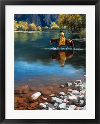 Framed Shallow Crossing Print