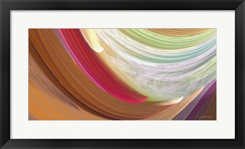 Framed Wind Waves II Print