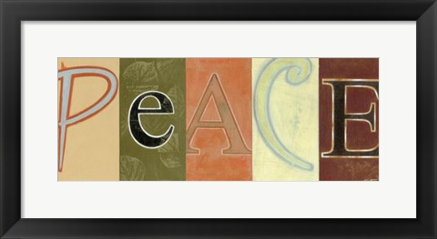 Framed Peace Panel Print