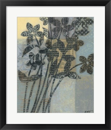 Framed Quilted Bouquet II Print