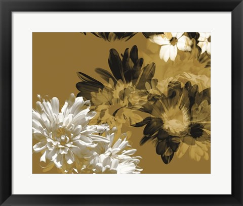 Framed Golden Bloom I Print