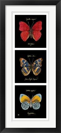 Framed Primary Butterfly Panel I Print