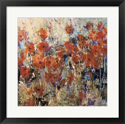 Framed Red Poppy Field II Print