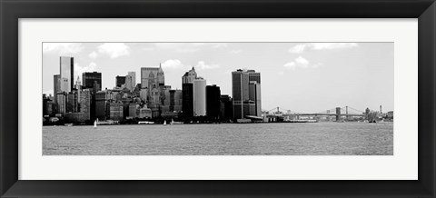 Framed Panorama of NYC IV Print