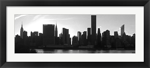 Framed Panorama of NYC VI Print