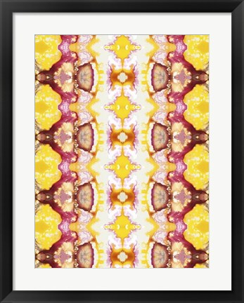 Framed Watercolor Quilt VI Print