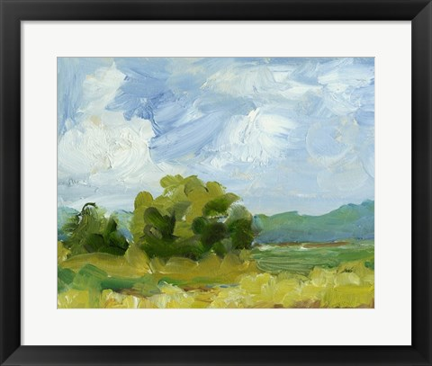 Framed Field Color Study I Print