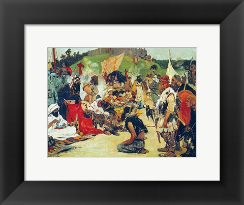 Framed Trade Negotiations in the Country of Eastern Slavs Print