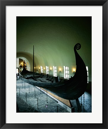 Framed Oseberg Ship Viking Ship Museum Oslo Norway Print