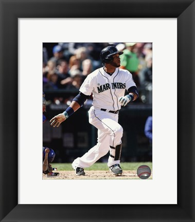 Framed Robinson Cano Running For Plate Print