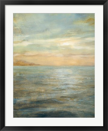 Framed Serene Sea II Print