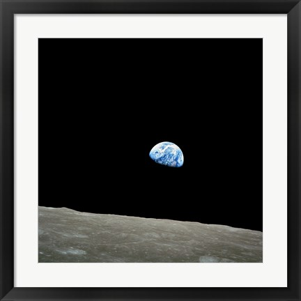 Framed Earthrise Print