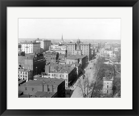 Framed Richmond, Va. Top view Print