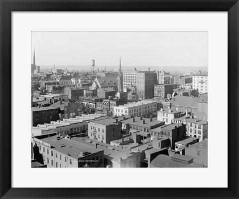 Framed Richmond, Va. black & white photo Print