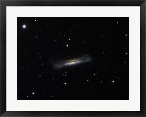 Framed Galaxy NGC 3628 in Leo Print