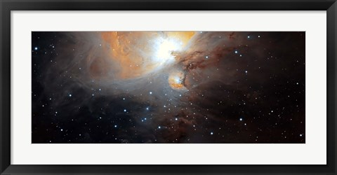 Framed Part of the M42 nebula in Orion Print
