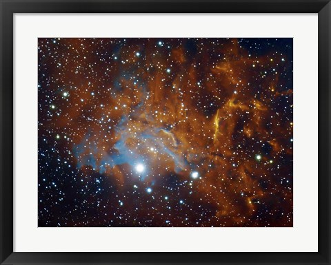 Framed Flaming Star Nebula in Auriga Print
